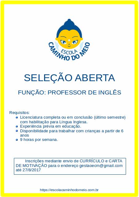 Seleção Professor Ingles