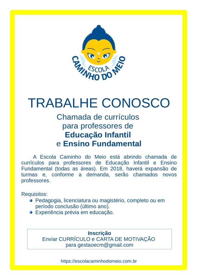 Chamada de Curriculos-email